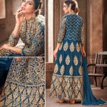 Superb Violet Blue Net Anarkali Salwar Kameez