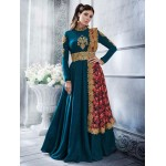 Nakkashi Peacock Silk Party Wear Suit